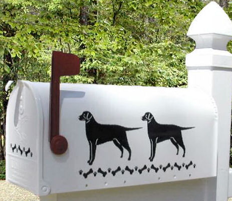Curly Coated Retriever Dog Mailbox