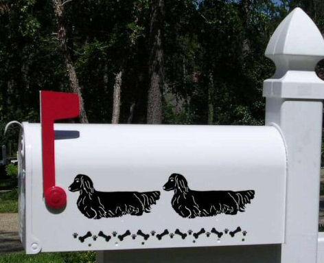 Dachshund (Long Hair) Dog Mailbox
