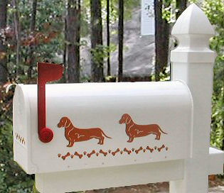 Dachshund (Smooth Hair) Dog Mailbox