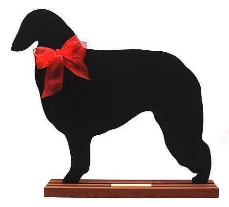 Borzoi Dog Breed Chalkboard