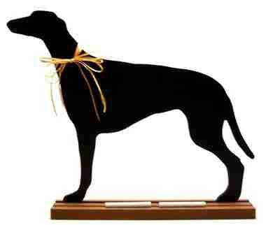 Greyhound Dog Breed Chalkboard