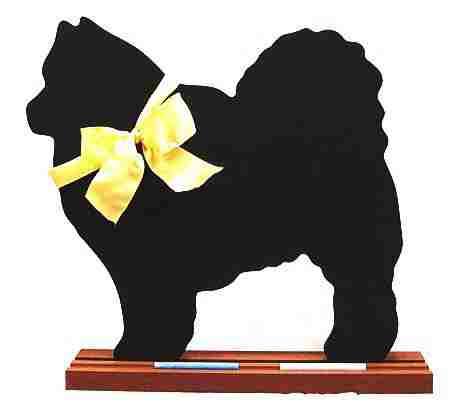 Keeshond Dog Breed Chalkboard