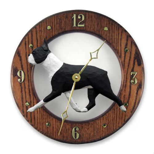 Boston Terrier Dog Wall Clock