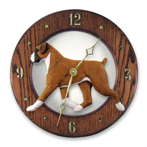Boxer, Natural - Dog Wall Clock
