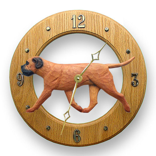 Bullmastiff Dog Wall Clock