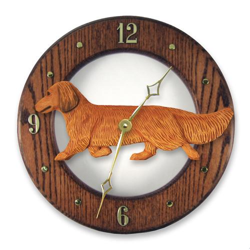 Dachshund, Long Hair - Dog Wall Clock