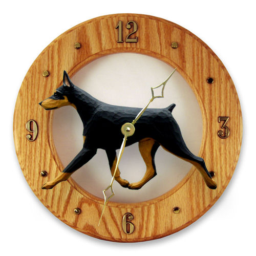 Doberman Pinscher Dog Wall Clock