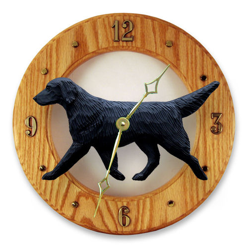 Flat-Coated Retriever Dog Wall Clock