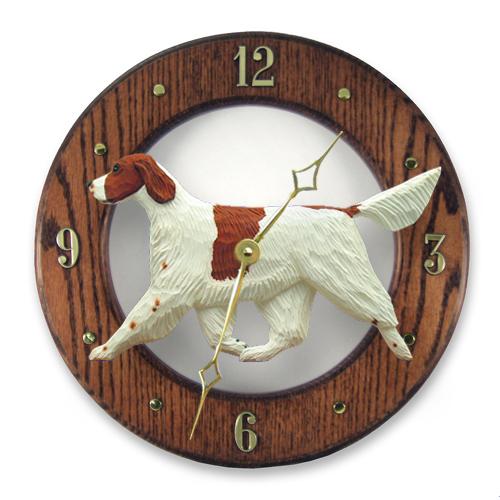 Irish Red and White Setter Dog Wall Clock