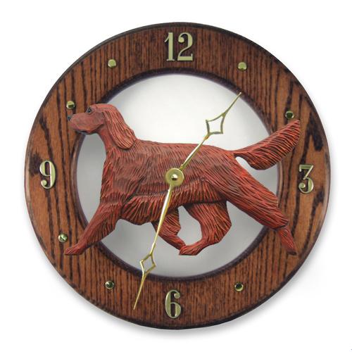 Irish Setter Dog Wall Clock