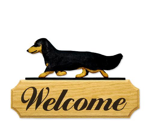 Dachshund, Long Hair Dog Welcome Sign