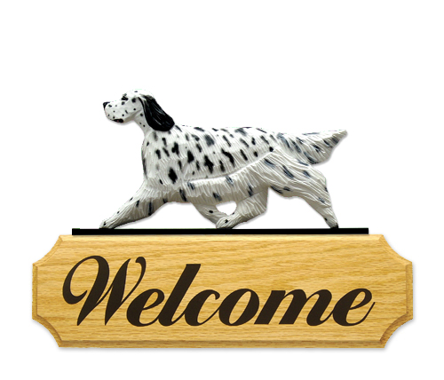English Setter Dog Welcome Sign