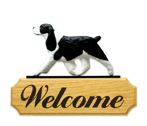 English Springer Spaniel Dog Welcome Sign