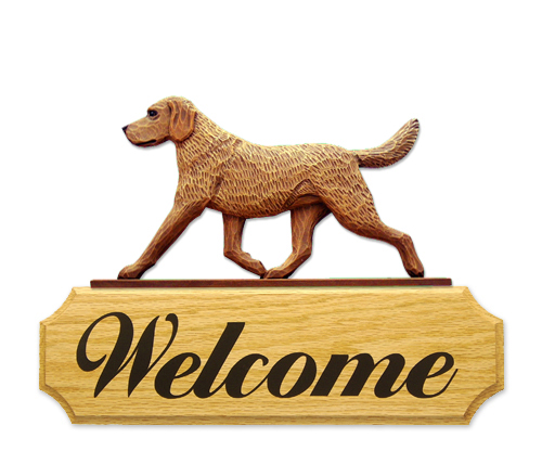 Chesapeake Bay Retriever Dog Welcome Sign