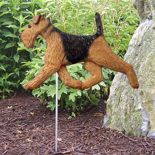 Airedale Terrier Dog Garden Stake