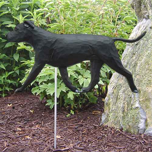AmStaff Terrier Dog Garden Stake - Black