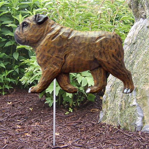 English Bulldog  Dog Garden Stake
