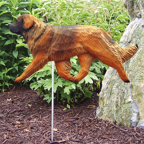 Leonberger Dog Garden Stake