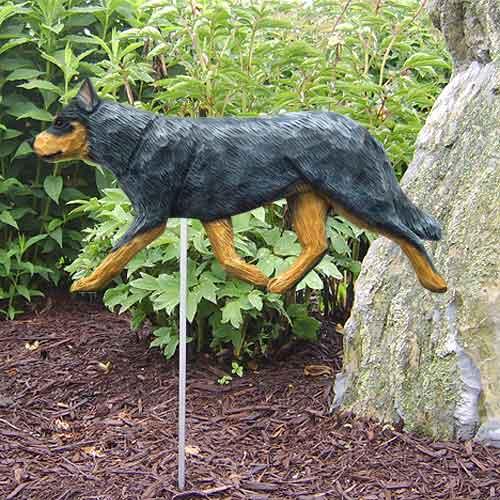Australian Cattle Dog Garden Stake - Blue Merle