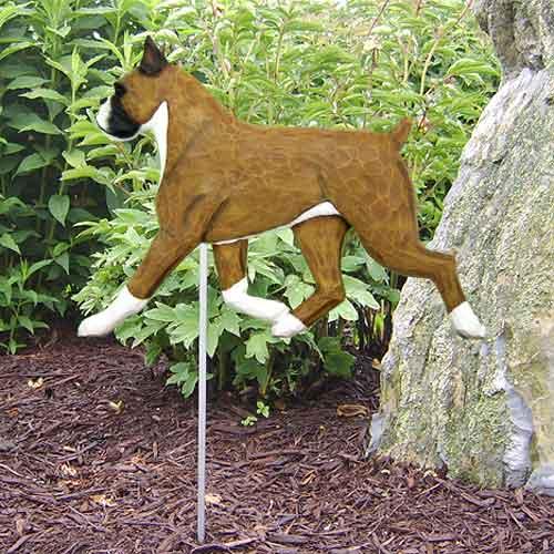 Boxer Dog Garden Stake - Fawn