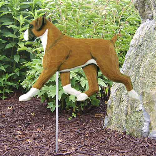 Boxer (Natural) Dog Garden Stake - Brindle