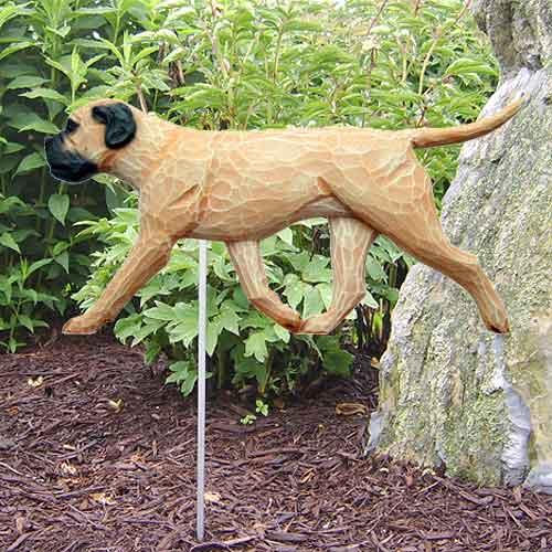 Bullmastiff Dog Garden Stake