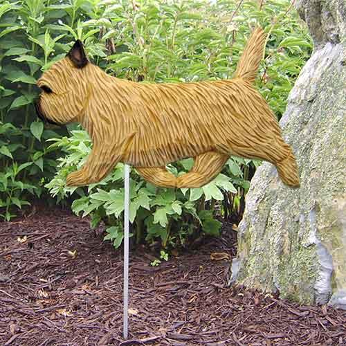 Cairn Terrier Dog Garden Stake - Light Grey