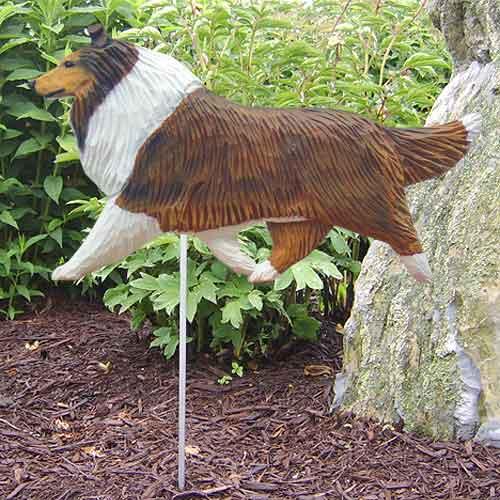 Collie Dog Garden Stake