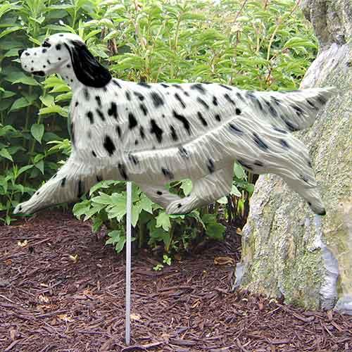 English Setter  Dog Garden Stake