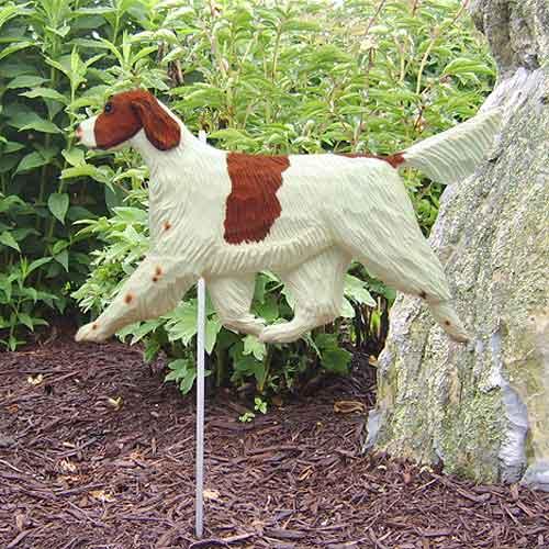 Irish Red and White Setter Dog Garden Stake