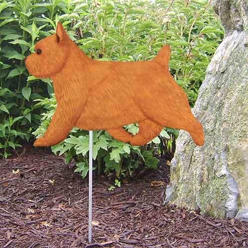 Norwich Terrier Dog Garden Stake