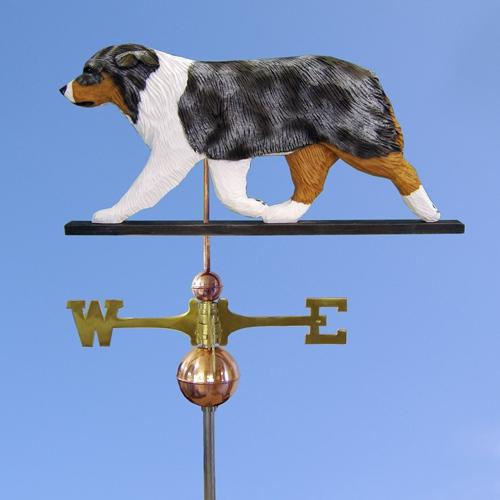 Australian Shepherd Dog Weathervane shown in Blue Merle