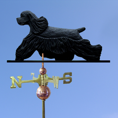 Cocker Spaniel Dog Weathervane shown in Black
