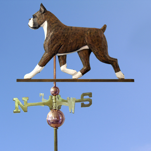Boxer Dog Weathervane shown in Brindle