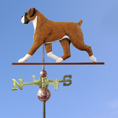 Boxer, Natural Dog Weathervane shown in Fawn