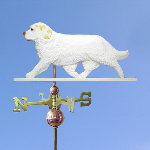Clumber Spaniel Dog Weathervane shown in Lemon