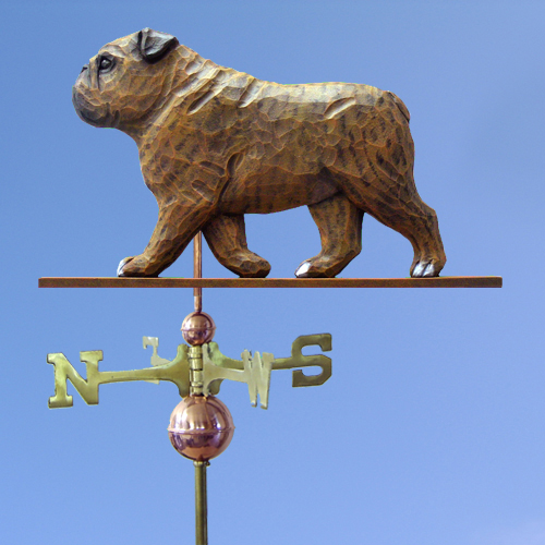 English Bulldog Dog Weathervane shown in Brindle