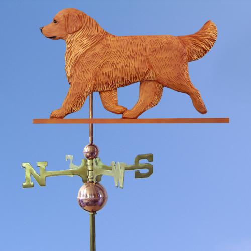 Golden Retriever Dog Weathervane shown in Dark