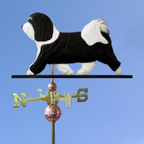 Havanese Dog Weathervane shown in Black and White