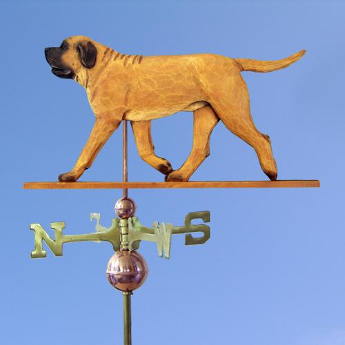 Mastiff Dog Weathervane shown in Apricot