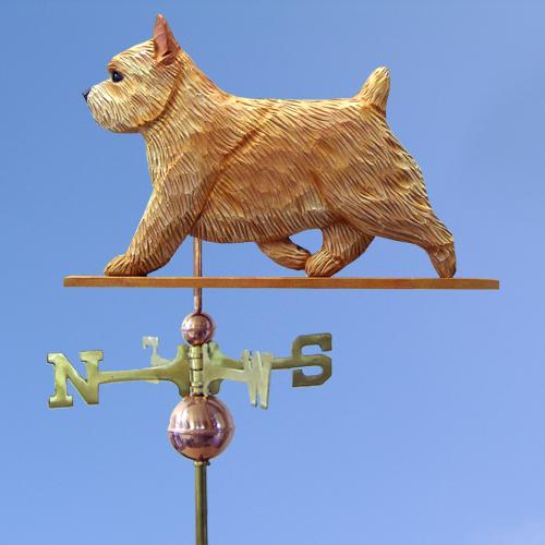 Norwich Terrier Dog Weathervane shown in Wheaten