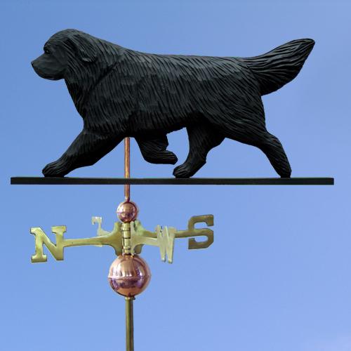 Newfoundland Dog Weathervane shown in Black