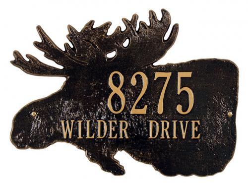 Moose Silhouette Wall Plaque