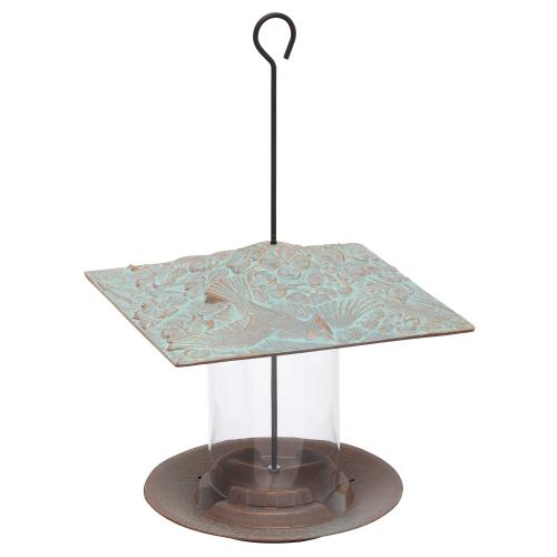 6 Inch Cardinal Bird Feeder - Copper Verdi