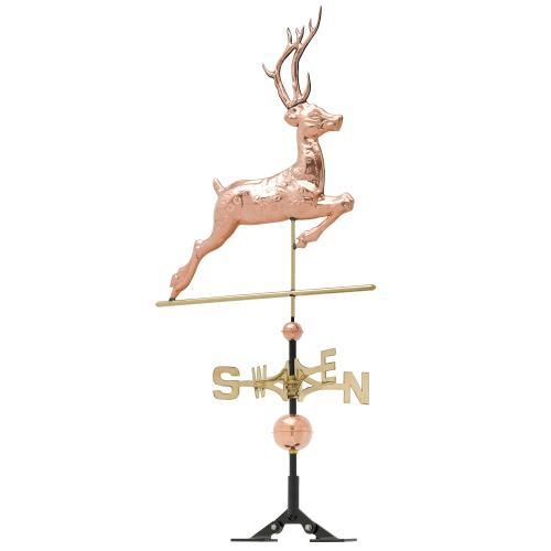 Copper Deer Weathervane - Polished Copper