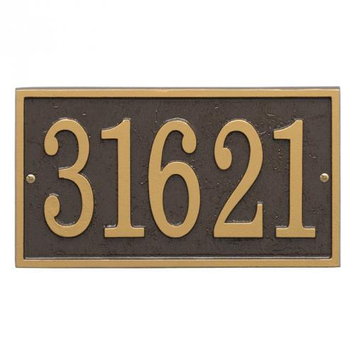 Fast & Easy Rectangle Number Plaque - Bronze/Gold