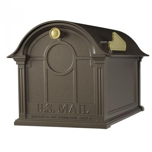 Balmoral Post Mount Mailbox shown in Bronze