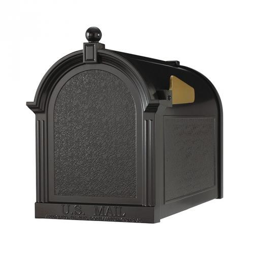 Capitol Post Mount Mailbox shown in Black