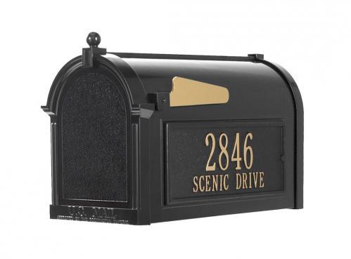 Capitol Personalized Plaque Post Mailbox - Black