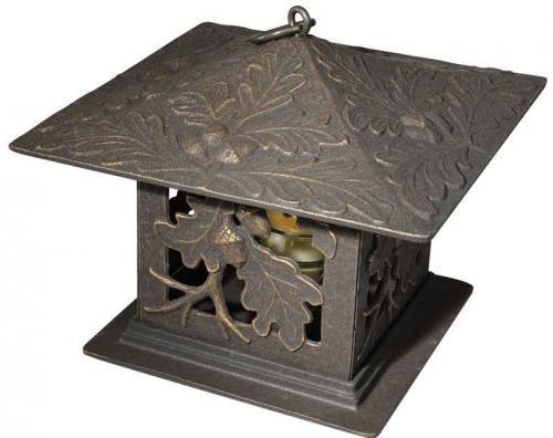 Garden Tea Lantern - Oak Leaf